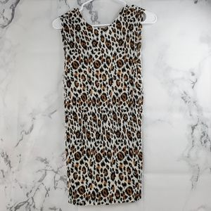 Topshop Animal Print Criss Cross Open Back Blouse